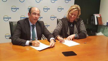 Gastón y el consejero delegado de Enagás firman un acuerdo para el desarrollo de proyectos a partir de gases renovables