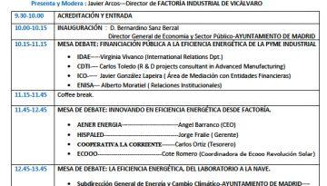 Jornada en Madrid: «Eficiencia energética en la industria 4.0»